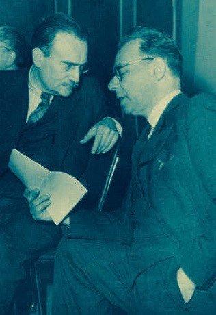 Willem Drees en Koos Vorrink